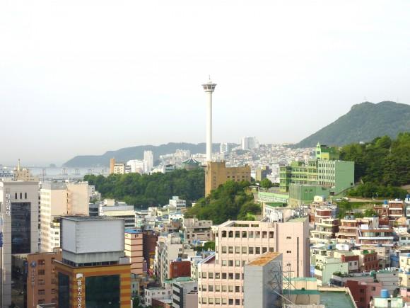 釜山タワーとその周辺