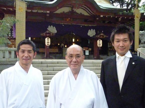 禰宜さんと貞方邦介氏