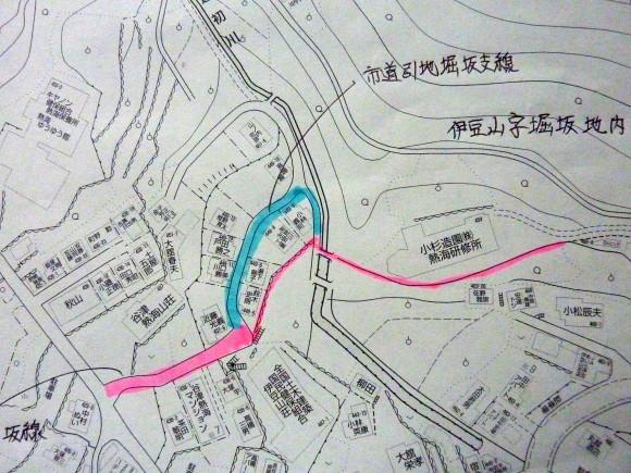 伊豆山地区市道認定道路図