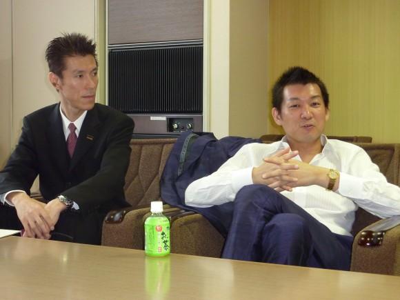 貞方氏と斉藤ホテル支配人
