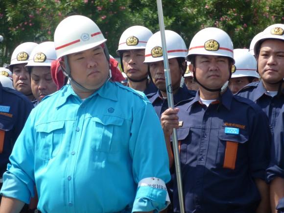 熱海市職員と各分団消防団員