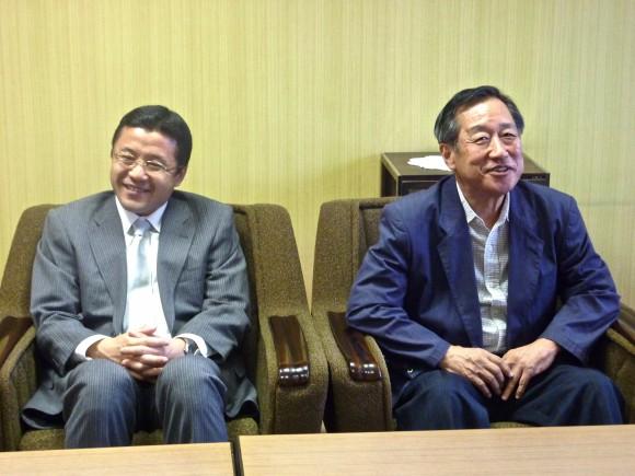 森田協会長と三枝温泉組合長