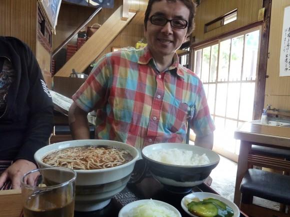 昼食は富岡酒店社長と「むさしの」で
