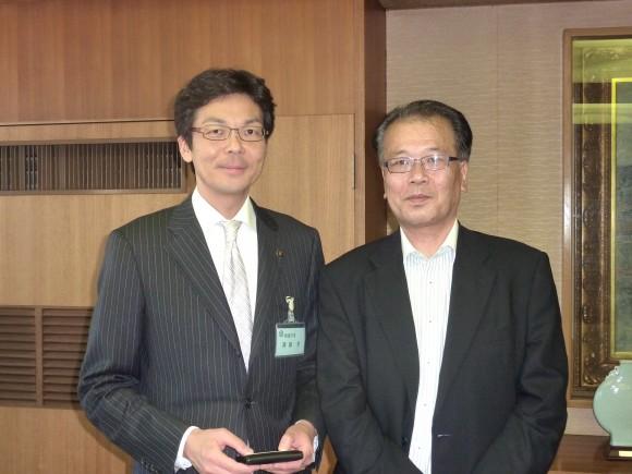 斉藤市長と塩野氏