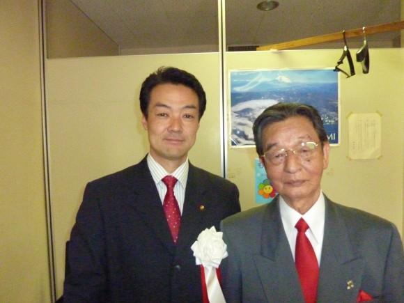 橋本議員と中野大会プロデューサー