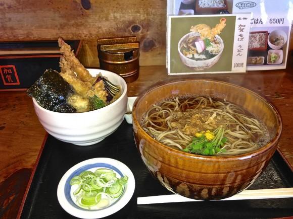 加賀そばミニ天丼ランチ