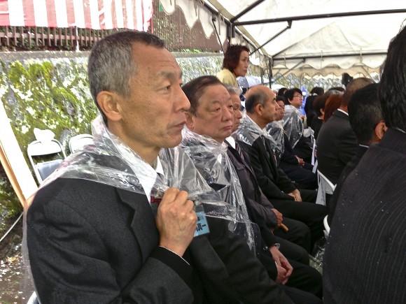 丹那トンネル慰霊祭にて