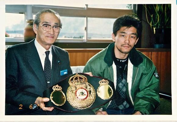 内田市長とレパード玉熊