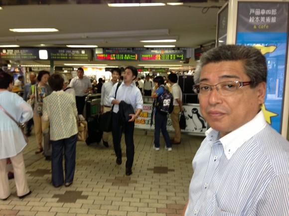 高橋議長と熱海駅