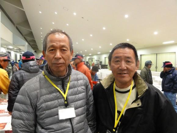 佐口&富塚氏(魚市場にて)