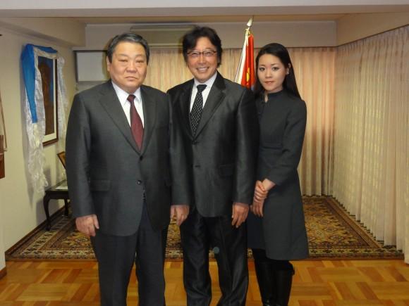 モンゴル大使と1