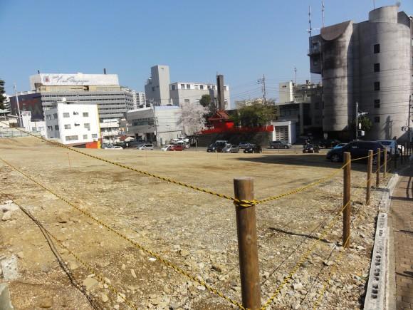 旧岡本ホテル跡地