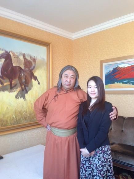 ジンギスハーン(ソソルバルム・俳優歌手)とナギサ