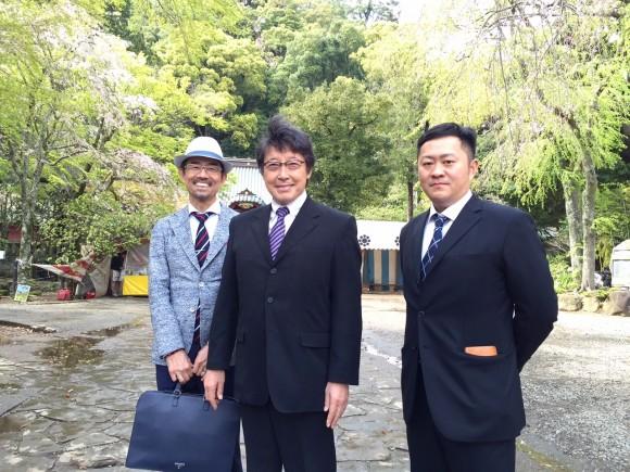 伊豆山神社にて